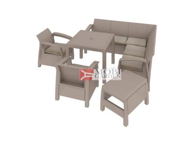Set mobilier de gradina Curver Corfu Relax Quartet Cappuccino