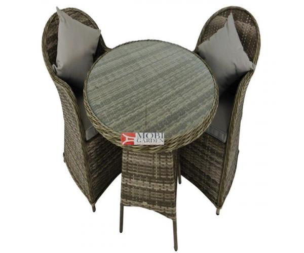Set mobilier de gradina PREMIUM ratan sintetic Altito Gri/Taupe