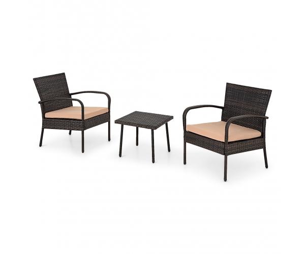 Set mobilier gradina/terasa 3 piese IBIZA maro/bej