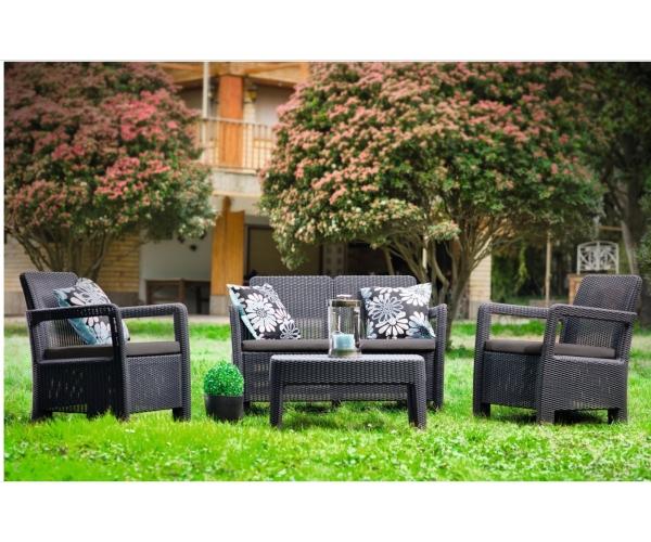 Set mobilier de gradina Tarifa Lounge Keter,Grafit
