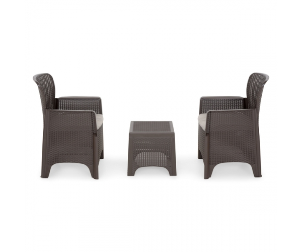 Set mobilier terasa Toscane Maro/ Gri-taupe