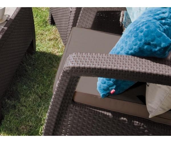 Set mobilier de gradina Keter Corfu Max Maro/ Gri-taupe