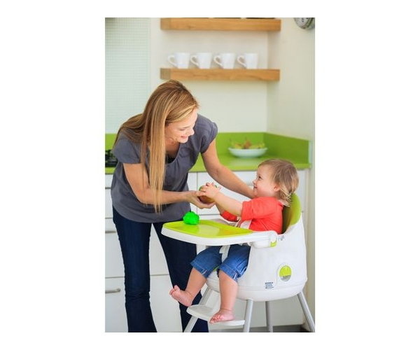 Scaun de masa pentru bebelusi Keter Multi Dine, reglabil 6 luni - 5 ani, verde