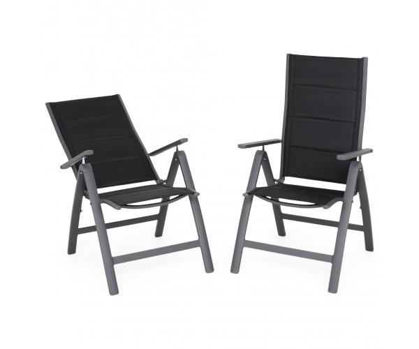 Set 2 scaune pliabille, EASY, negru