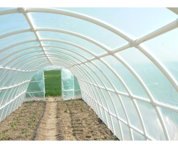 Solar gradina cu schelet din PVC, 10 x 3 m