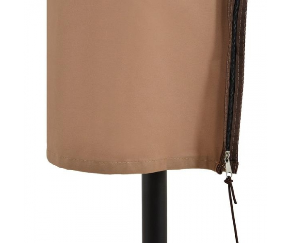 Umbrela gradina cu manivela, California, D.270, negru/gri