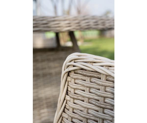 Set mobilier premium de terasa, Juventus Grande, ratan sintetic, gri