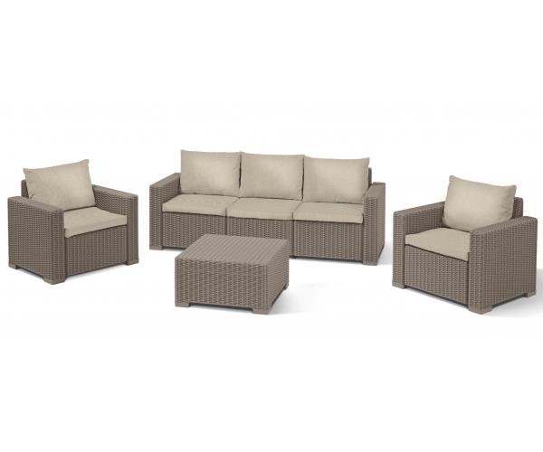 Set mobilier de terasa, Keter, California, cappuccino