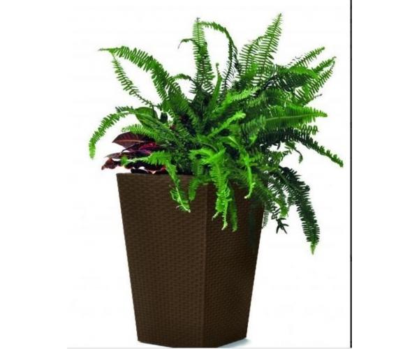 Ghiveci Medium Rattan Planter 55,4L, maro