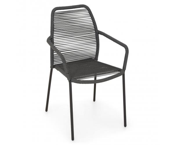 Set mobilier terasa/gradina, masa si 4 scaune, Encore/Rope