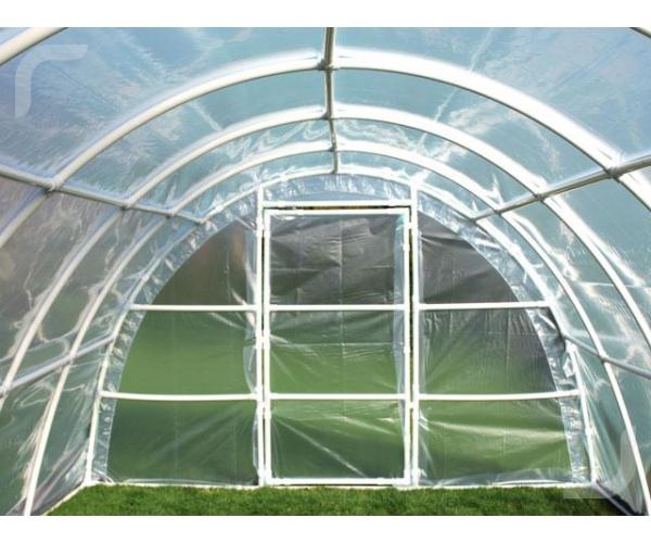Solar gradina cu schelet din PVC, 6 x 3 m