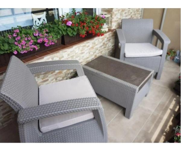 Set mobilier de gradina Corfu II Weekend Capuccino/Gri-nisipiu