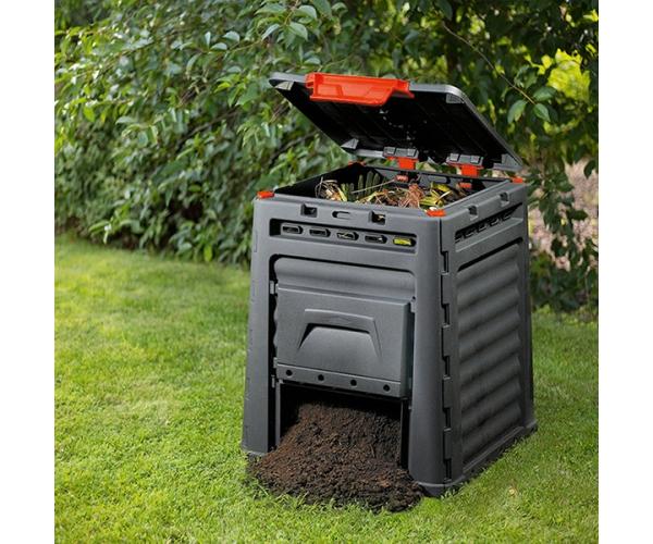 Compostor Eco gradina - 320L - Negru