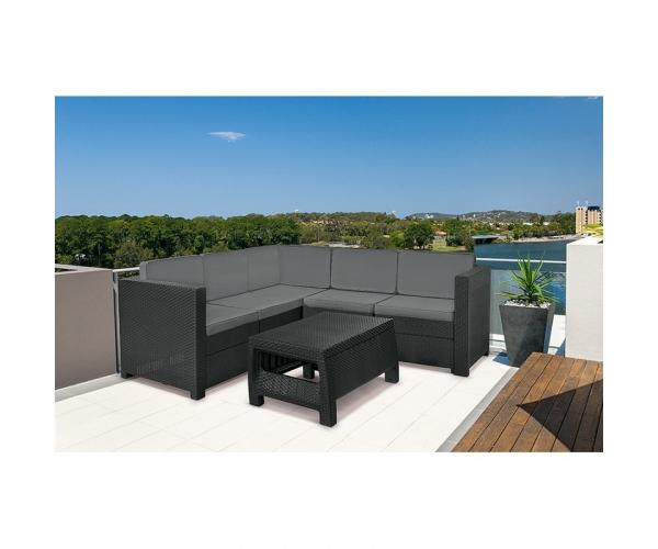 Set mobilier de terasa cu masuta de cafea - Provence Grafit/Gri- rece