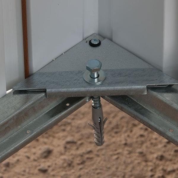 Casuta de gradina metalica Yardmaster 108GEYZ 3x2 Emerald Deluxe