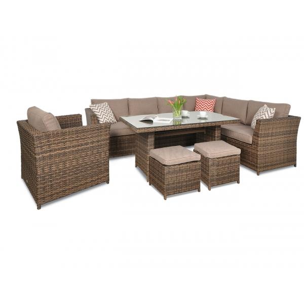 Set mobilier de gradina PREMIUM Moniz Plus Maro/ Bej