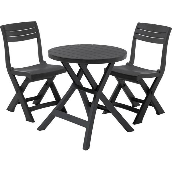 set mobilier pliabil pentru balcon jazz grafit mobigarden. Black Bedroom Furniture Sets. Home Design Ideas