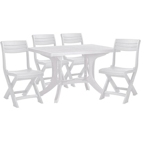 set mobilier pliabil pentru balcon funky alb mobigarden. Black Bedroom Furniture Sets. Home Design Ideas