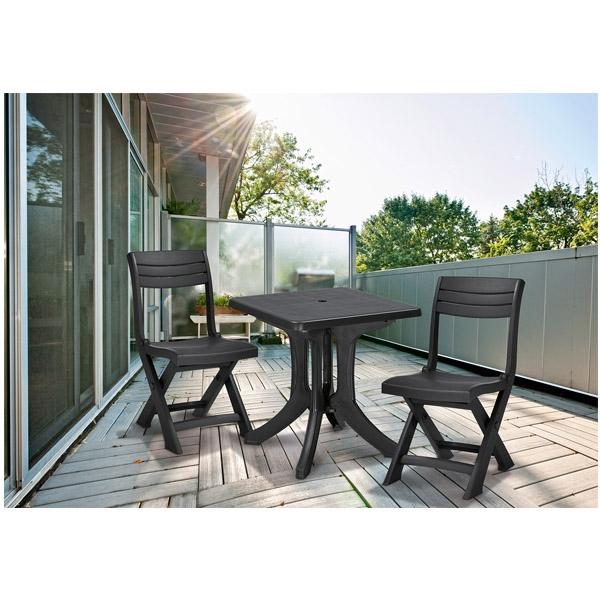 set mobilier pliabil pentru balcon blues grafit mobigarden. Black Bedroom Furniture Sets. Home Design Ideas