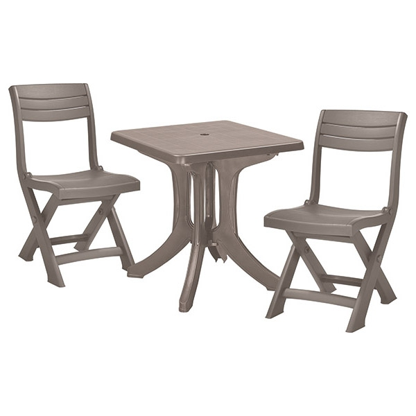 set mobilier pliabil pentru balcon blues cappuccino mobigarden. Black Bedroom Furniture Sets. Home Design Ideas
