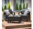 Set mobilier de gradina Corfu Quattro Grafit/ Gri-rece